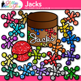 Rainbow Jacks Clip Art | Counting and Sorting Manipulatives for Math Centers