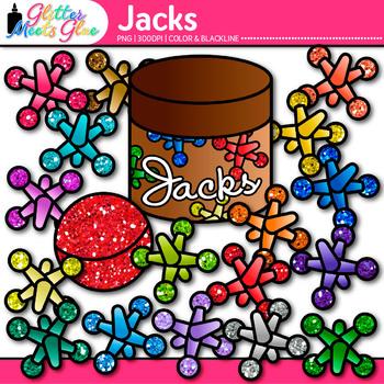 Rainbow Jacks Clip Art {Counting and Sorting Manipulatives