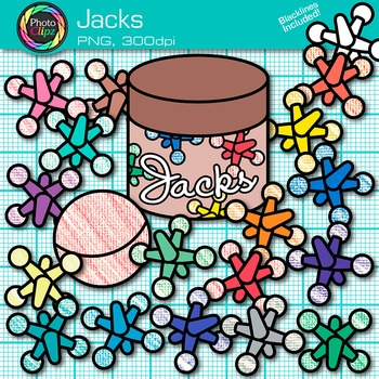Rainbow Jacks Clip Art {Counting and Sorting Manipulatives for Math Centers}