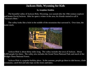 Jackson Hole, Wyoming - powerpoint for Kids
