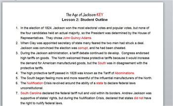 Jackson-Lesson 2 Student Outline & Key Notes/Worksheet/Printable