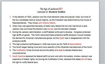 Jackson-Lesson 2 Student Outline & Key Notes/Worksheet/Printable