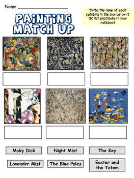 Jackson Pollock - Meet the Artist - Artist of the Month - Mini Unit Printables