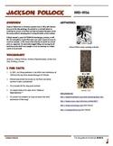 Jackson Pollock Informational Worksheet