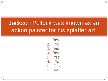 Jackson Pollock Power Point Assessment