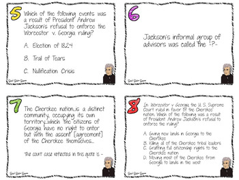 Jackson Game with Task Cards