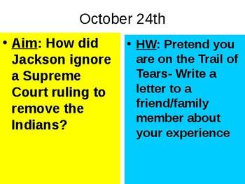 Jackson Trail of Tears PowerPoint