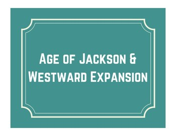 Jackson & Westward Expansion Word Wall