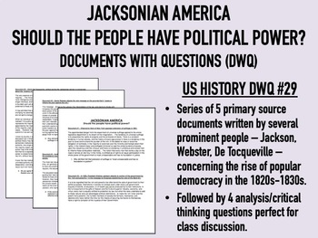 Jacksonian America - Should the people have political power? USH/APUSH