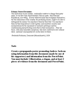 Jacksonian Democracy PowerPoint Worksheet