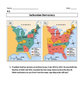 Jacksonian Democracy & Spoils System Inquiry Lesson
