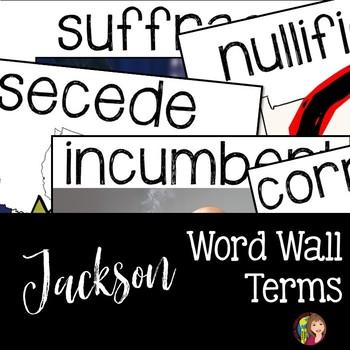 Jacksonian Era Word Wall Terms for US History