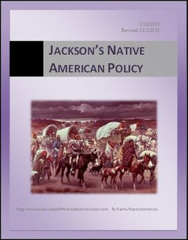 Jackson's Native American Policy Differentiated Instruction Lesson