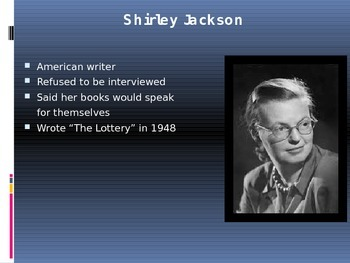 "Jackson's ""The Lottery"" (PowerPoint Presentation)"