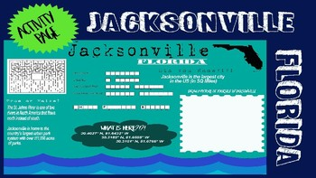 Jacksonville, Florida Activity Page