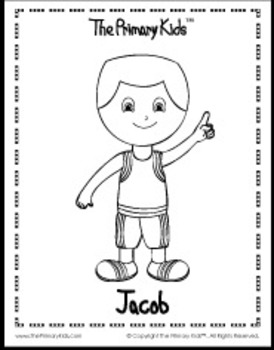 Jacob Coloring Page - The Primary Kids