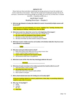 Jacob Have I Loved - Creative Unit Resources