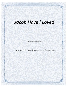 Jacob Have I Loved Novel Unit Plus Grammar