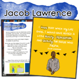 Jacob Lawrence Artist Portrait, Quote, and Handout/Distance Learning/Sub Lesson