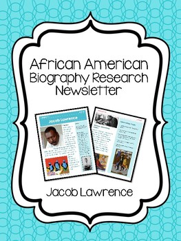 Jacob Lawrence Biography Newsletter