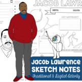 Jacob Lawrence Sketch Notes for Visual Art Worksheet - Art