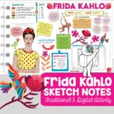 Famous Artists Biography: Frida Kahlo Sketch Notes for Vis