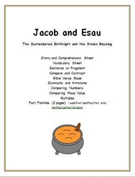 Jacob And Esau Worksheets Teaching Resources Tpt