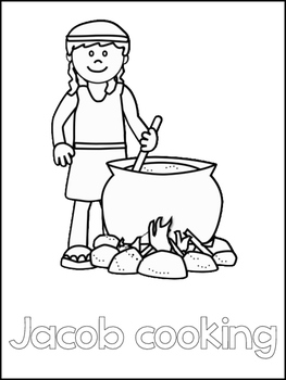 Jacob and Esau Printable Color Sheets. Preschool Bible Study Curriculum.