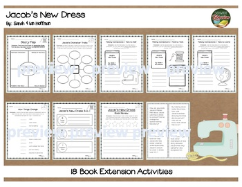 Jacob's New Dress by Hoffman Literacy Book Extension Activity Pack