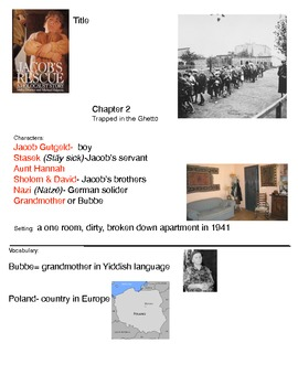 Jacob's Rescue  A Holocaust Story adapted book  chapter 2