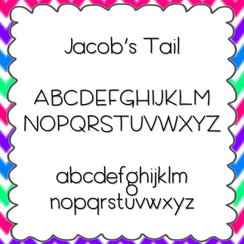 Jacob's Tail Font {personal and commercial use; no license needed}