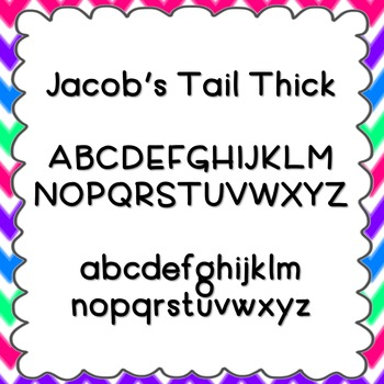 Jacob's Tail Thick Font {personal and commercial use; no license needed}