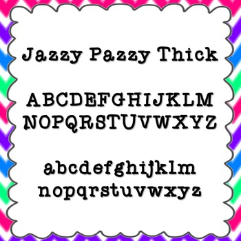 Jazzy Pazzy Thick Font {personal and commercial use; no license needed}