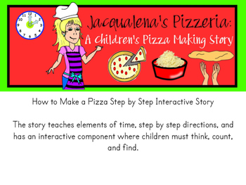 """Jacqualena's Pizzeria - An Interactive """"How to"""" Pizza Making Book {HARD GOOD}"""