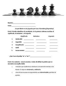 Jacque Mate en dos jugadas (packet)
