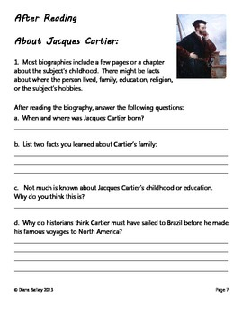 Jacques Cartier - A Guided Biography Study