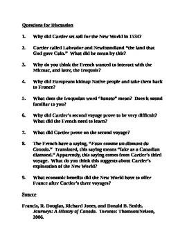 Jacques Cartier Assignment