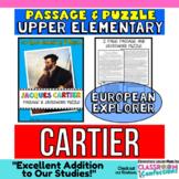 Jacques Cartier Reading Passage: Biography: Comprehension Crossword Puzzle