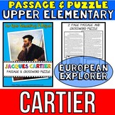 Jacques Cartier Biography Passage and Crossword Puzzle