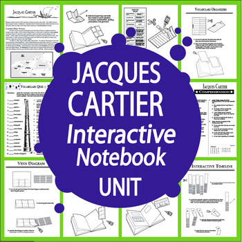 Jacques Cartier New World Explorer Interactive Notebook Unit
