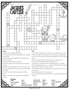 Jacques Cartier Crossword