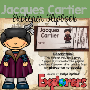 Jacques Cartier Flipbook (Interactive Notebooks)