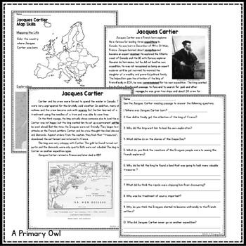 Jacques Cartier: 3rd grade Interactive PowerPoint