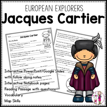 Jacques Cartier: 3rd grade Interactive PowerPoint