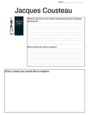 Jacques Cousteau Biography Response Sheet