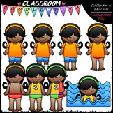 Jada Gets Dressed For Swimming Clip Art - Sequence Clip Ar