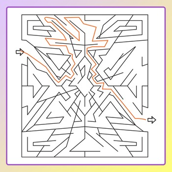 Jagged Mazes Clip Art for Commercial Use