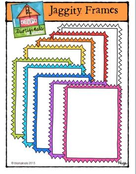 Jaggity Frames {P4 Clips Trioriginals Digital Clip Art}