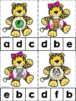 Jaguar ABC's & 123's Clip Cards {NO DITTOS}