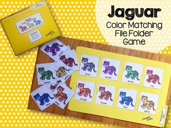 Jaguar Color Matching File Folder Game